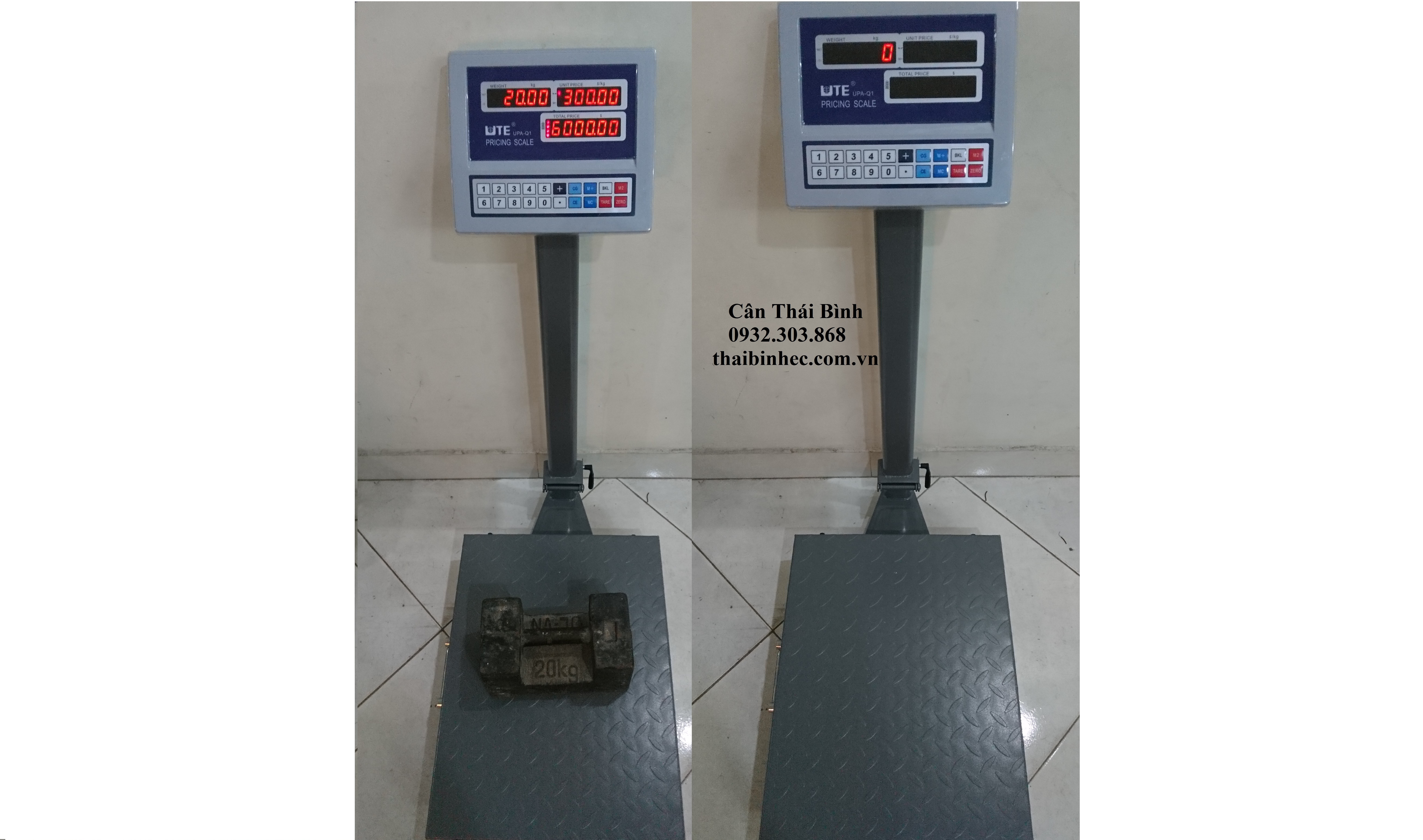 Cân bàn tính giá UTE UPA-Q1  30×40 Thép 100kg